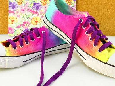 DIY Sommerschuhe mit Farbverlauf | tollen Farben - einfach selbermachen | Chucks Trends Idee