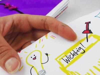 Filofax DIY Idee | Wie kann man sich Termine hervorheben? 7 kleine Malereien im Filofax | Einfach