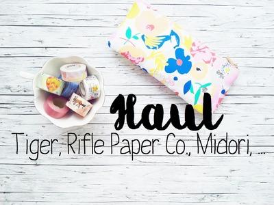 Stationery Haul | Tiger, Rifle Paper Co., Midori, Masté,.