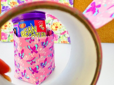 Süße DIY Aufbewahrung aus Duck Tape | Einfache Box als Stiftedose & Geschenk | Schreibtisch Deko