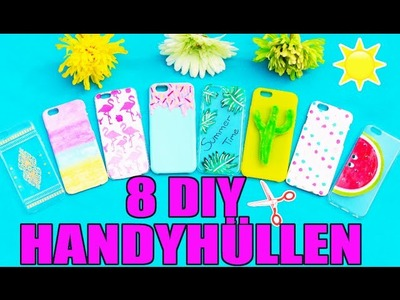 8 DIY HANDYHÜLLEN ☀️ SOMMER TUMBLR PHONE CASE SELBER MACHEN | EIS, MELONE, HENNA, OMBRE | KINDOFROSY