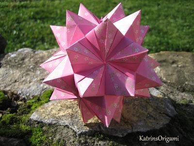Origami ★ Stella Rhombica ★ Kusudama