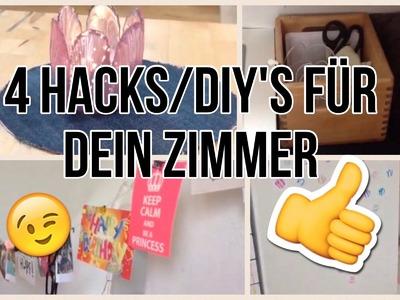 4 COOLE HACKS. DIY's FÜR DEIN ZIMMER