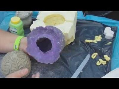Beton gießen - DIY - selbst eine Latexform von einer Kugel machen. + Stützform aus Bauschaum