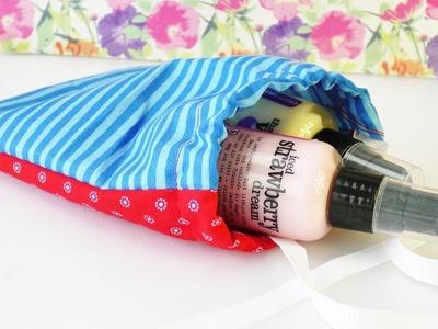 DIY Geschenk Verpackung im kleinen Stoffbeutel | nähen für Anfänger |  süßes Beutelchen aus Stoff