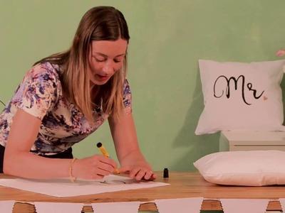 DIY zur Hochzeit: Mr. und Mrs. Pärchenkissen Kissenset für das Brautpaar