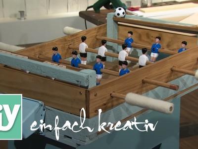 Tischkicker aus Holz | DIY einfach kreativ
