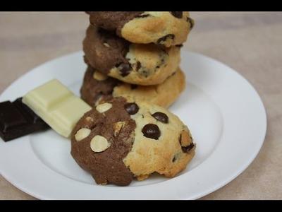 Chocolate Chip Cookies mit doppelt Schokolade. Double Chocolate Chip Cookies