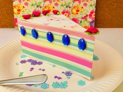 Wunderschönes Tortenstück als Geschenk Box | Aufbewahrung für Geburtstags Überraschungen | Party