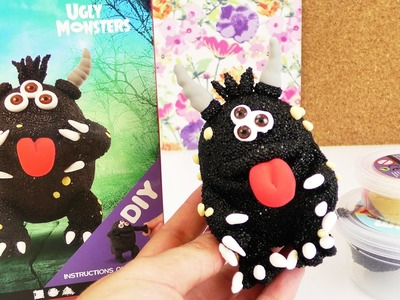 DIY Wolkenschleim Monster DEMO | Eva baut das schwarze Monster auf | Foam Clay DIY Set