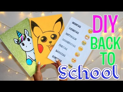 BACK TO SCHOOL DIY: Block für die Schule pimpen - do it yourself - Pikachu, Einhorn, Emoji