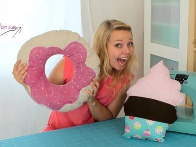 Cupcake & Donut Kissen nähen – DIY Eule