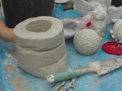Beton giessen - DIY - Ein Sack aus Beton vom Weihnachtsmann