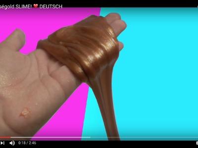 DIY Roségold SLIME! ❤️ DEUTSCH