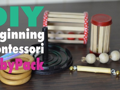 DIY Montessori Spielzeug Baby Pack | 5 Toys | mamiblock - Learn & Play
