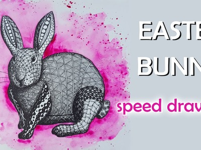 Speed Drawing Zentangle ❀ Easter Bunny | Osterhase ❀ DIY | Colorful