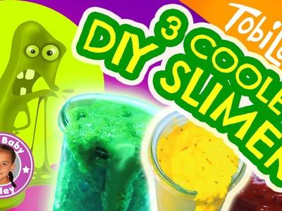 COOLE SLIMER DIY REZEPTE | Mega bunte Schleime zum selber machen | CuteBabyMiley & Tobilotta