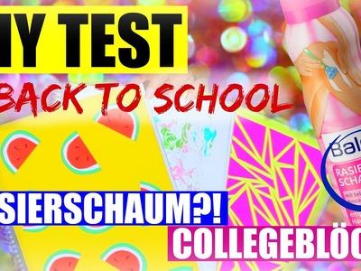 DIY BACK TO SCHOOL TEST: RASIERSCHAUM & COLLEGEBLOCK | SofiaBeautyCafe