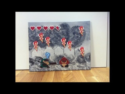 DIY: Bügelperlen Bild : Link gegen Goomba. Perler Beads The Legend of Zelda