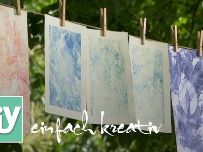 Papier marmorieren mit Rasierschaum | DIY einfach kreativ