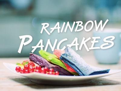 Rainbow Pancake Rezept: Backe bunte Pfannkuchen in Sternform