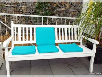 Käthes Nähstunde DIY Bezüge für Polster Garten - Terrassenstühle Nähen für Anfänger