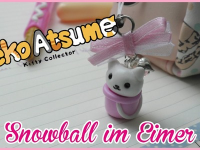 FIMO | Neko Atsume SNOWBALL als ANHÄNGER | how to | Tutorial
