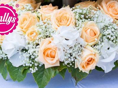 DIY - Blumengesteck. Blumenkranz für die Hochzeit meiner besten Freundin