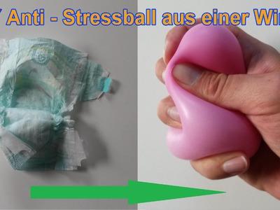 ANTISTRESSBALL aus WINDEL selber machen. DIY Antistressbälle selbst basteln. Tutorial deutsch