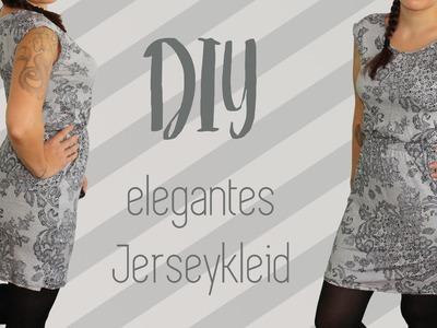 Elegantes und figurschmeichelndes Jerseykleid nähen - DIY Tutorial | Nähanleitung