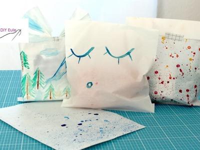 Geschenktaschen selber basteln und gestalten - DIY Eule