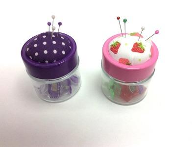DIY: Stecknadelglas basteln für Kleinigkeiten zum Nähen, Häkeln, Aufbewahren