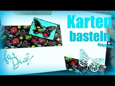 Basteln mit Papier & Washi | DIY Anleitung Karte selber machen | 9999 Dinge - DIY, Basteln & Trends
