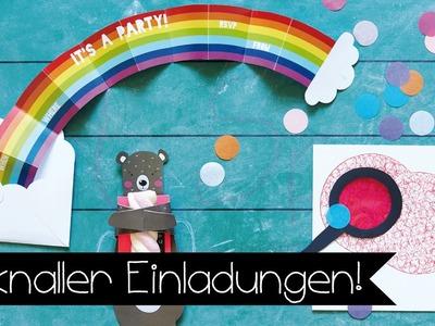 DIY EINLADUNGEN I KINDERGEBURTSTAG | BASTELN MIT KINDERN I KINNERTIED #79