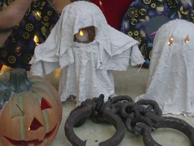 Beton giessen - DIY - Mini Wächter. Coole Deko Geister für Halloween