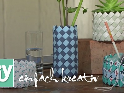 Gewebter Korb aus Papier | DIY einfach kreativ