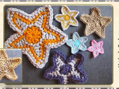Häkeln - Anleitung Sterne groß und klein. Crochet - Pattern Stars big and small