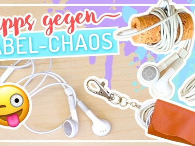 NIE MEHR verknotete Kopfhörer mit HACKS & DIY #TypischSissi