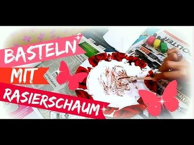 Basteln mit Rasierschaum | Rasierschaumtechnik | 9999 Dinge - DIY, Basteln & Trends