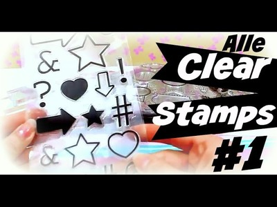 Clear Stamps Video deutsch # 1 | Was sind Clear Stamps? | 9999 Dinge - DIY, Basteln & Trends