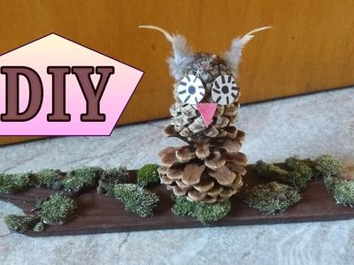Herbst - Basteln ●  DIY  •  Eulen - Dekoration  * Julebuergerfee