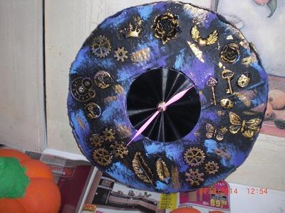 Beton giessen - DIY - Anleitung - Eine Uhr aus Beton giessen. Betonuhr