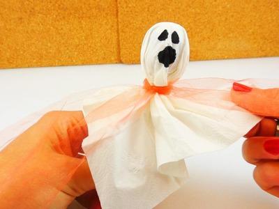 Gespenster Lolli - Halloween Geist zum Naschen selber machen | Ghost Candy DIY