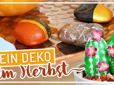 DIY einfache HERBST Deko mit Steinen #TypischSissi