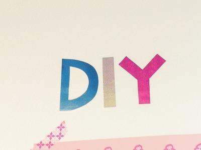 DIY Wandtattoo mit Glitzerbuchstaben | schnell & einfach | tolle Deko Idee für Zuhause | Trend
