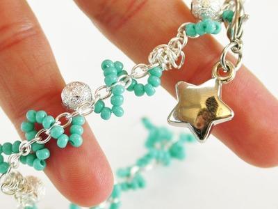 Schmuck selber machen | süßes Armband mit Perlen & Anhänger | DIY Freundschaftsband