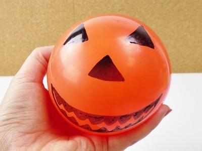 Halloween Antistressball | Glibbi im Kürbis Look | DIY Herbst Idee | Unheimliches Gesicht
