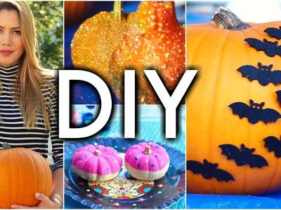Kürbisse dekorieren OHNE schnitzen DIY Herbst Deko. Halloween | funnypilgrim