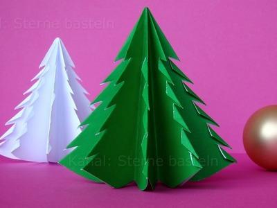 Weihnachten basteln: Tannenbaum basteln mit Papier - Weihnachtsdeko Ideen selber machen - DIY