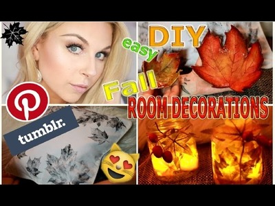 3 Easy Fall DIY's: Cozy Room Decor I Kuschelige Herbst-Deko I Tumblr & Pinterest inspired